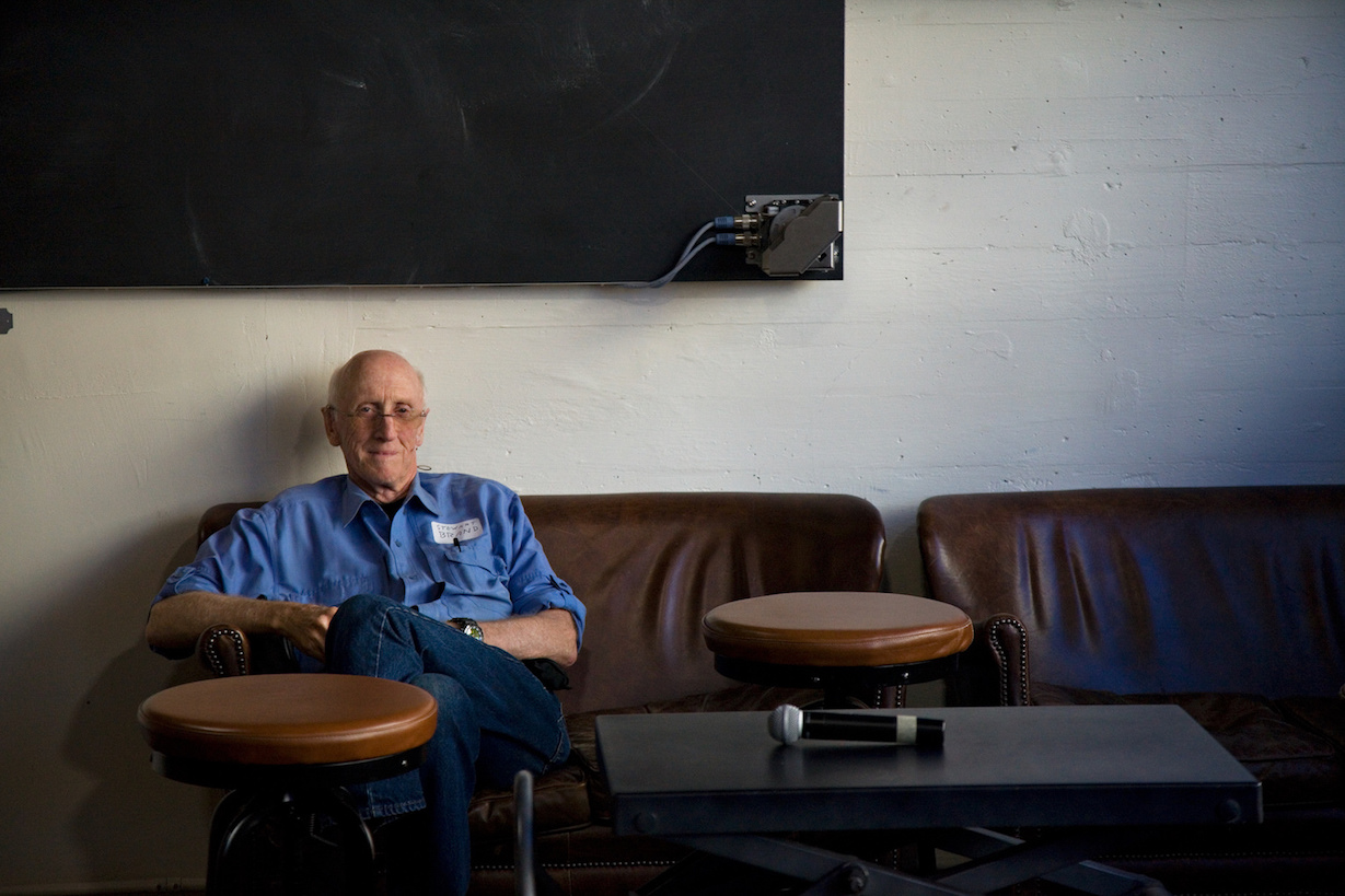 Stewart Brand at The Interval, photo by Gary Wilson